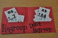 I used this today! - Answer addition problems and sort by regroup or don't regroup - Regrouping Game