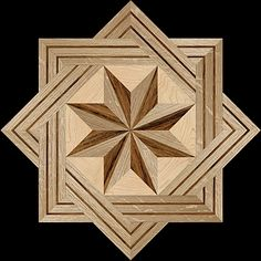 8 RAYS MQF I - Hardwood Floor Medallion