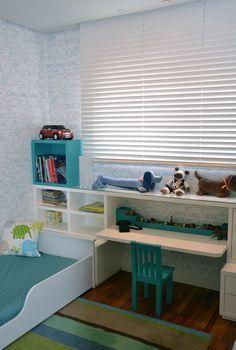 Quarto de menino #decor #wallpaper #kidsroom