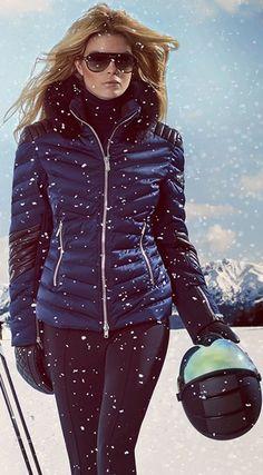 Toni Sailer Women's Clothilde Ski Jacket with fur Snow Fashion, Winter Fashion, Apres Ski Party, Outfit Invierno, Snow Outfit, Ski Wear, Snow Skiing, Ski And Snowboard, Sport Outfits