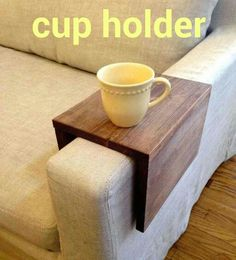 Wood cup holder