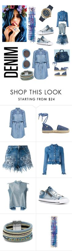 """""""denim"""" by angela-villano ❤ liked on Polyvore featuring MICHAEL Michael Kors, Versus, J.W. Anderson, Marques'Almeida, Diesel, Design Lab, NOVICA and Gentle Monster"""