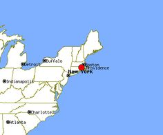 Here's where PVD is located (1 hour south of Boston; 3.5 hours north of NYC; along I-95 corridor).
