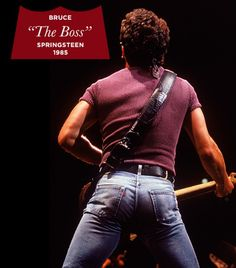 Our Favorite Denim Moments Throughout The Years via @WhoWhatWear - Bruce Springsteen Remember the cover of Born In The USA? The Boss is wearing Levi's, just as you'd expect.