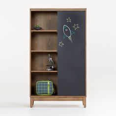 Sale ends soon. Our Chalkboard Cocoa Bookcase is a multifunctional, interactive storage piece perfect for kids rooms and playrooms. Little ones can write and draw directly on the sliding door's chalkboard surface. Unique Furniture, Custom Furniture, Kids Furniture, Retro Furniture, Crate And Barrel, Bookshelves Kids, Bookcases, Barrister Bookcase, Cube Bookcase