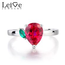 Leige Jewelry Promise Ring Ruby Ring Pear Cut Red Gemstone July Birthstone Solid 925 Sterling Silver Lovely Rings for Girls - Affordable Jewelry July Birthstone, Birthstone Jewelry, Red Gemstones, Rings For Girls, Affordable Jewelry, Promise Rings, Birthstones, Pear, Heart Ring