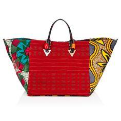 Sacs femme - Africaba Tissu/calf Ecom Cotton - Christian Louboutin