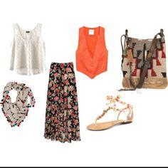 Nina's fashion ideas Retro Fashion, Boho Fashion, Fashion Dresses, Vintage Fashion, Womens Fashion, Fashion Ideas, Ladies Fashion, Boho Outfits, Cute Outfits