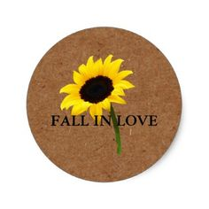 Kraft Autumn Bride Sunflower Party Gift Tag - party gifts gift ideas diy customize