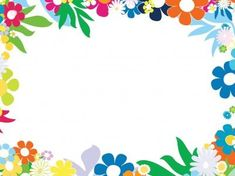 Floral Colorful Frames PPT Backgrounds
