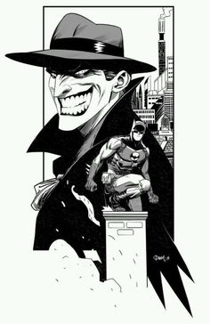Batman and Joker by Dan Mora