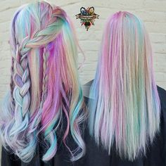 Rainbow fashion hair for summer, do you want to try it?