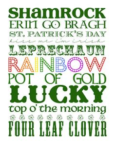 Shamrock - Leprechaun - Pot Of Gold - Top O' The Morning to you! Four Leaf Clover