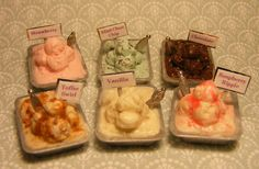 12th Scale Doll House Set of 6 Luxury Ice by Cherryberryminis, $50.00