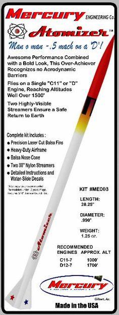 Mercury Engineering Co. Model Rocket Kits - Atomizer