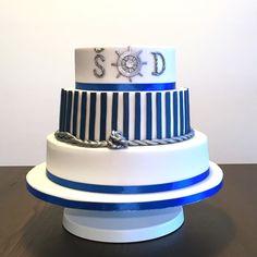 Navy wedding cake Wedding Cakes, Navy, Desserts, Food, Wedding Gown Cakes, Hale Navy, Tailgate Desserts, Deserts, Essen
