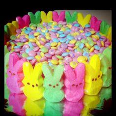 Easter baking Peep Cake :)