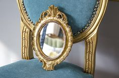 Vintage Italian Florentine Mirror, Petite Size by edithandevelyn on Etsy