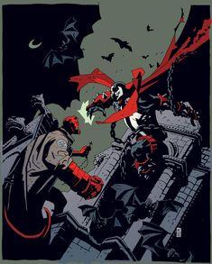 Hellboy vs. Spawn by Mike Mignola