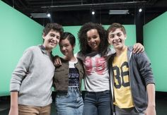 """Joshua Rush, Peyton Elizabeth Lee, Sophia Wylie & Asher Angel behind the scenes of the music video for """"Tomorrow Starts Today"""" by Sabrina Carpenter."""