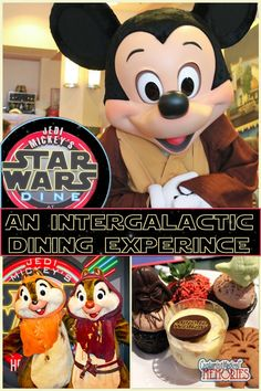 Jedi Mickey's Star Wars Dine Character Meal at Hollywood and Vine