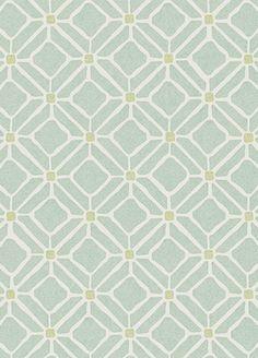 Fretwork wallpaper from Sanderson - 213720 - Aqua/Lime