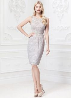 A classic silhouette combined with modern elements for an exceptionally beautiful design!  Ultra-feminine all over lace detailing features eye-catching leaf motif beading at waist.  Slim sheath skirt elongates silhouette and helps create aflawless figure.  Double spaghetti strap open back detail finishes off the look.  Available in Grey. Sizes 0-14.  Fully lined. Center back zip. Imported polyester. Dry clean.