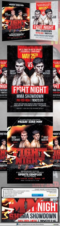 MmaUfcBox Showdown And Training Flyerspromote Your Mma  Ufc