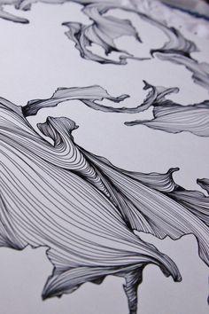 Œuvres d'Art originales d'encre dessin au trait par JennaWeaverInk