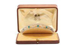 Diadema Chaumet en diamantes y esmeraldas