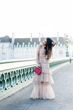London Love :: Polka dot dress & Studded sandals :: Outfit :: D R E S S :: Alice McCall dress  S H O E S :: Alaia sandals B A G :: Strathberry bag A C C E S S O R I E S :: Catbird choker | David Yurman bracelet | Monica Vinader ring band PUBLISHED: February 21, 2018