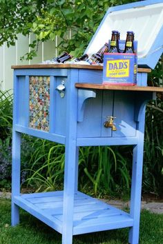 cooler table — perfect for backyard gatherings!