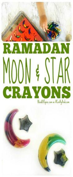 Ramadan Moon and Star Crayons {Tutorial} Guest Post by A Crafty Arab