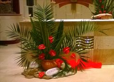 Church Decorations, Table Decorations, Ash Wednesday, Palm Sunday, Altar, Creative Ideas, Centerpieces, Projects To Try, Gardens