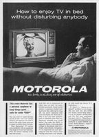 Motorola Portable TV 19T40, Earphone 1963 Ad Picture