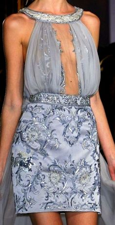 Le A la Mode, phe-nomenal: Zuhair Murad Spring 2013 Couture Grey Fashion, High Fashion, Fashion Show, Women's Fashion, Beautiful Gowns, Beautiful Outfits, Glamour, Couture Fashion, Runway Fashion