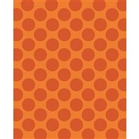 Orange Polka Dot Printed Backdrop