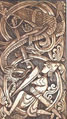 Sigurd the dragon slayer & Fafnir .