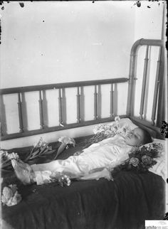 5-year-old boy, 1901. Victorian post mortem photography may seem strange, but for some families it was their only opportunity to have a memento of their loved one as photography was expensive at the time. Sometimes the dead were posed as if alive and sometimes are of children and babies due to the high death rate among this group at the time.
