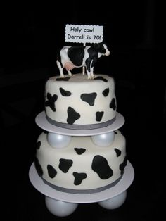 Cow birthday cake By YumFrosting on CakeCentral.com