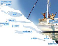 Adventure Sail Week Route Split-Dubrovnik