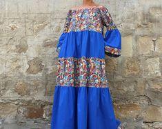 Boho dress, Maxi Dress, Cotton Maxi Dress, Boho Maxi Dress, Summer Maxi Dress, Plus size Maxi Dress, Long Cotton Maxi Dress