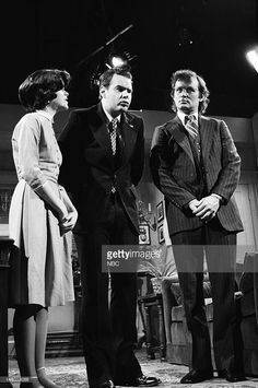 Gilda Radner as Julie Nixon, Dan Aykroyd as Richard Nixon, Bill Murray as David Eisenhower during the 'Blind Ambition' skit on May 26, 1979 - Photo by: