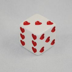 White Sweetheart Dice With Red Hearts – Valentines Day 2020 Ideas Lizzie Hearts, Queen Of Hearts, Red Hearts, Valentine Love, Valentine Day Gifts, I Love Heart, My Heart, Heart Wall, Irina Jelavic