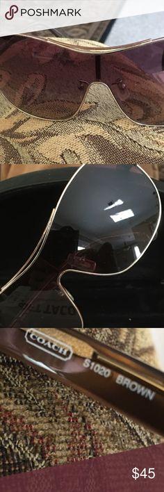 Coach sunglasses with a black case s1020 Coach sunglasses with a black case. Don't have original coach case. S1020 Coach Accessories Sunglasses