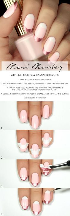Mani Monday: Rose Gold and Pink Valentine's Day Nail Tutorial at www.lulus.com!:
