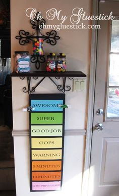 The Consequence Jar and behavior chart-- this will be awesome when they older!! Excited to try it!!