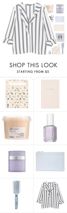 """/ 2.0.1.8 \"" by n-efarious ❤ liked on Polyvore featuring Kate Spade, Davines, Essie, Kate Somerville, Whistles, Goody and MANGO"