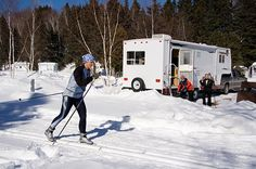 Travel trailer RV in winter camping Winter Camping, Tent Camping, Camping Gear, Camping Hacks, Rv Hacks, Camping Stuff, Glamping, Backpacking, Rv Travel