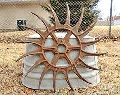 "Antique Old Late 1800's Metal 19"" Horsedrawn IH Rotary Hoe Wheel Garden Art!!!"